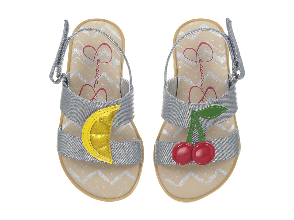 Jessica Simpson Kids - Devine (Toddler) (Silver Metallic Denim) Girls Shoes