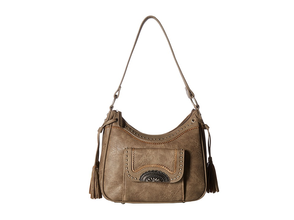American West - Guns and Roses Zip Top Shoulder Bag w/ Secret Compartment