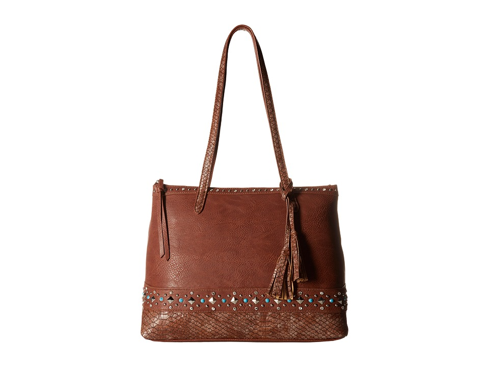 American West - Guns And Roses Zip Top Tote w/ Secret Compartment