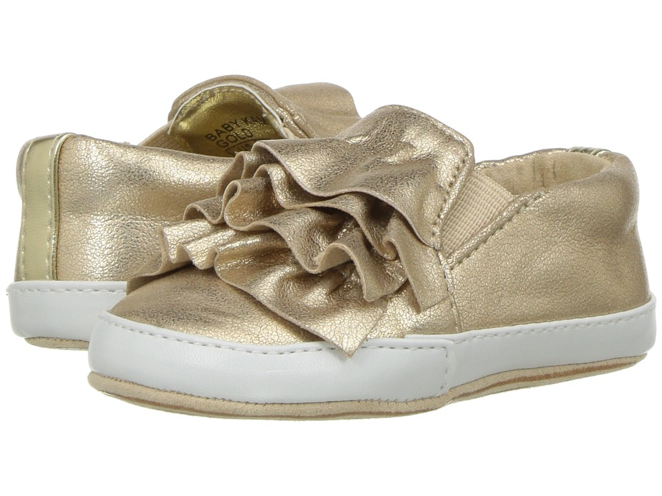 Kenneth Cole Reaction Kids - Kam Ruffle (Infant/Toddler) (Gold) Girls Shoes