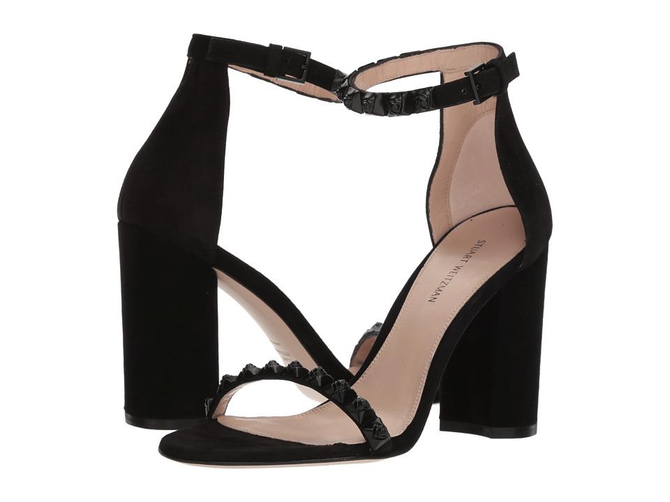 Stuart Weitzman Rosemarie (Black Luxe Suede) Women's Shoes