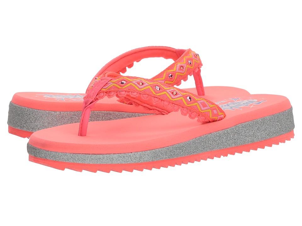 SKECHERS KIDS - Sunshines Lights 10932L (Little Kid/Big Kid) (Coral/Multi) Girls Shoes