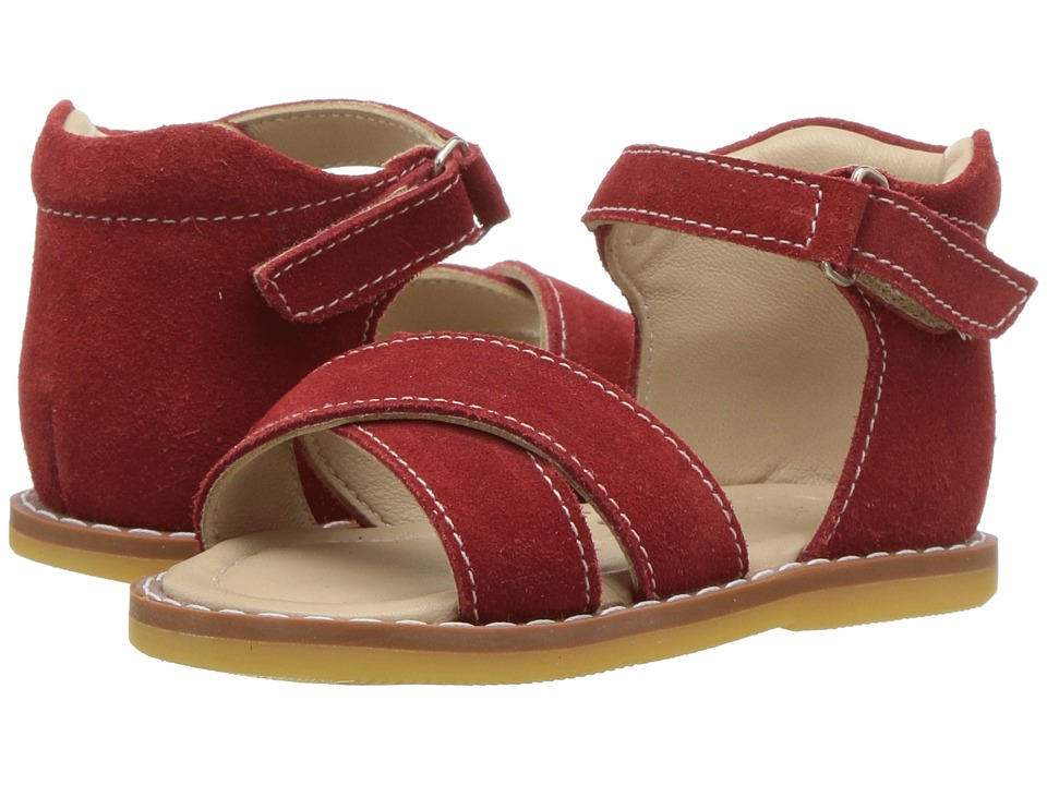 Elephantito Amy Crossed Sandal (Toddler) (Red) Girls Shoes