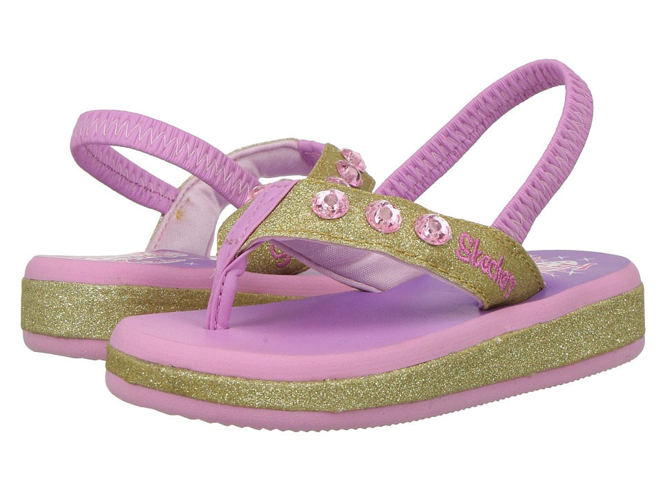 SKECHERS KIDS - Twinkle Toes - Sunshines 10752N Lights (Toddler) (Gold/Pink) Girls Shoes