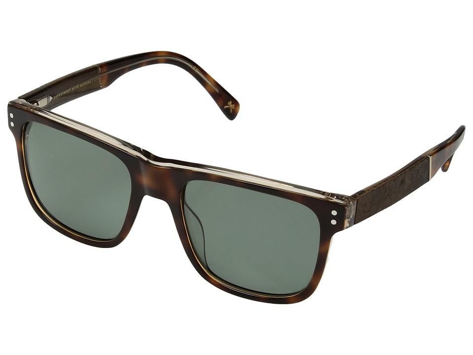 Shwood Monroe (Brindle/Elm Burl/G15 Polarized) Athletic Performance Sport Sunglasses