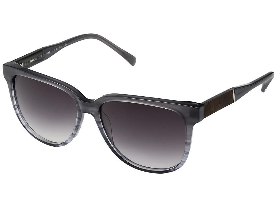 Shwood Mckenzie (Mist/Elm Burl/Grey Fade) Fashion Sunglasses