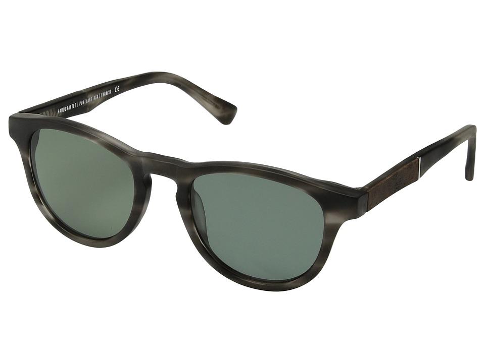Shwood Francis (Matte Grey/Elm Burl/G15 Polarized) Sport Sunglasses