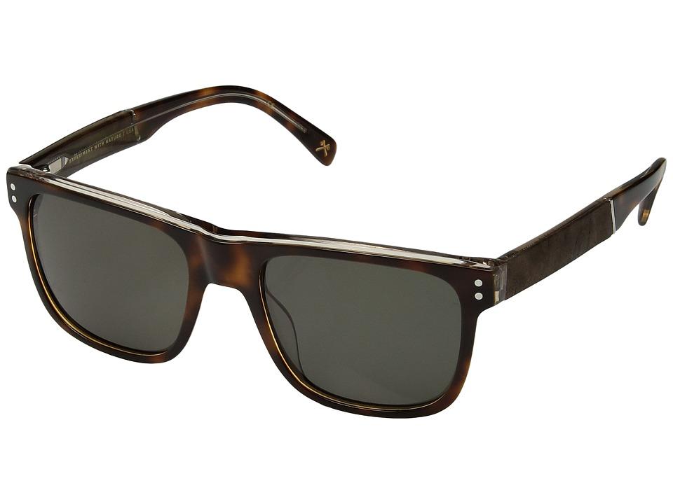 Shwood Monroe (Brindle/Elm Burl/G15) Athletic Performance Sport Sunglasses