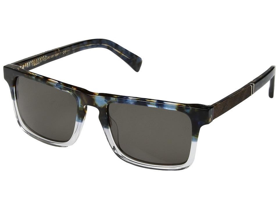 Shwood - Govy 2 (Blue Nebula/Elm Burl/G15) Sport Sunglasses