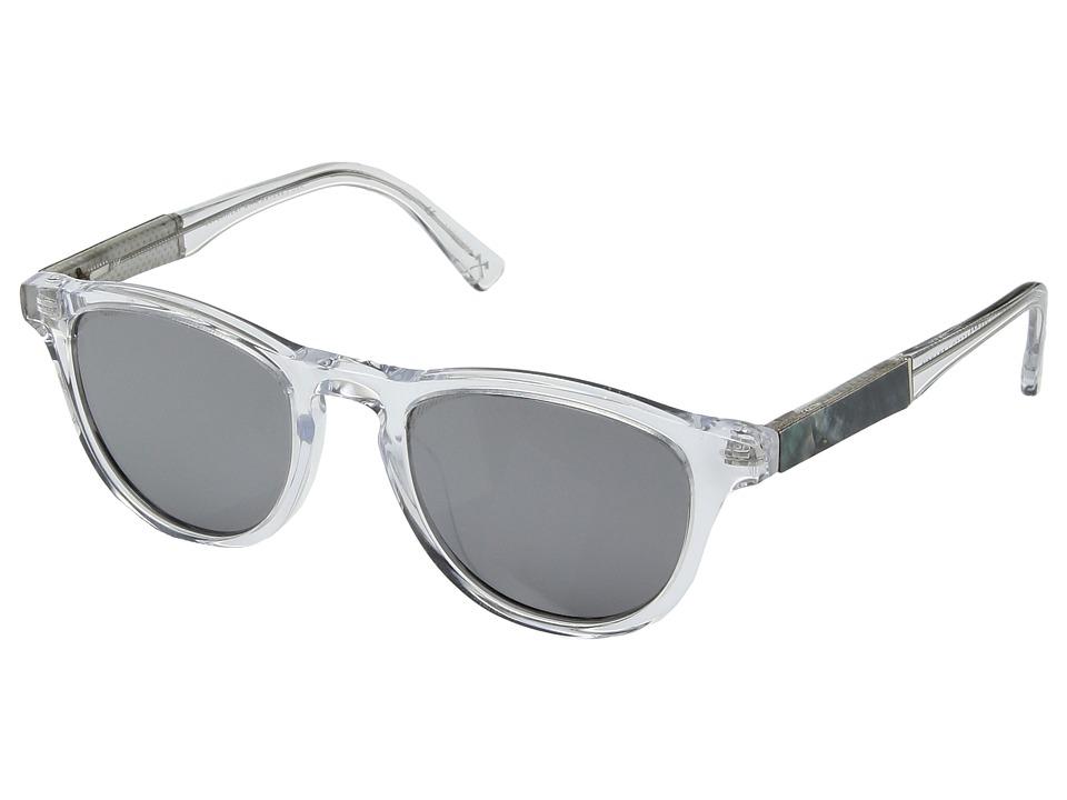 Shwood Francis (Crystal/Abalone Shell/Silver Mirror) Sport Sunglasses