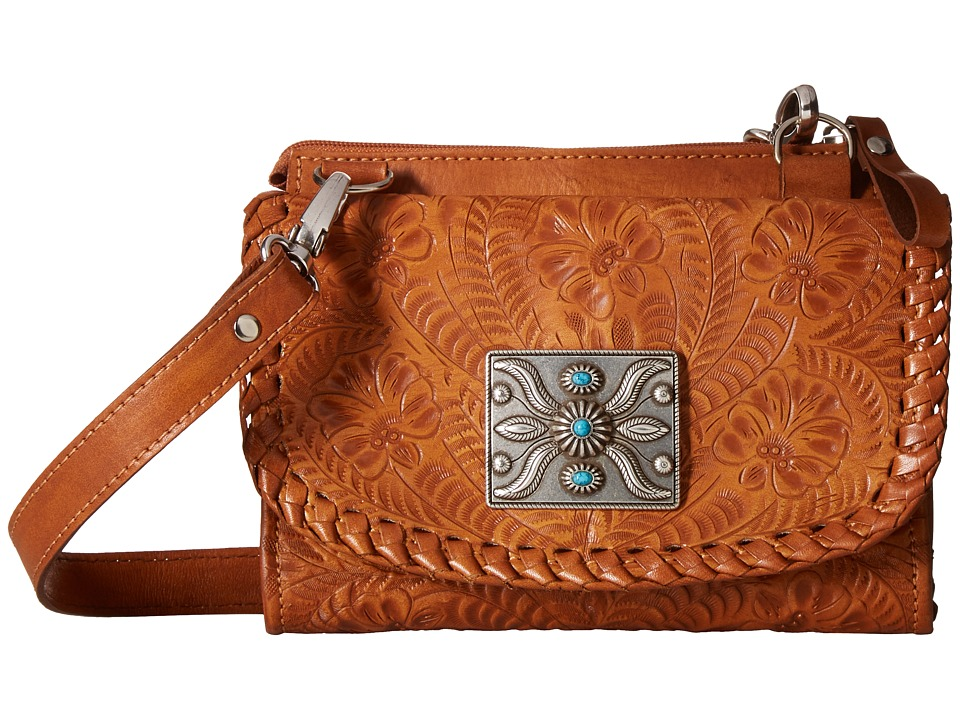 American West - Texas 2 Step Grab-and-Go Combination Bag (Golden Tan 1) Shoulder Handbags