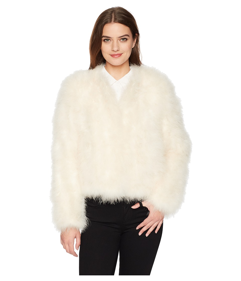 LAMARQUE - Deora Feather Jacket (White) Womens Coat