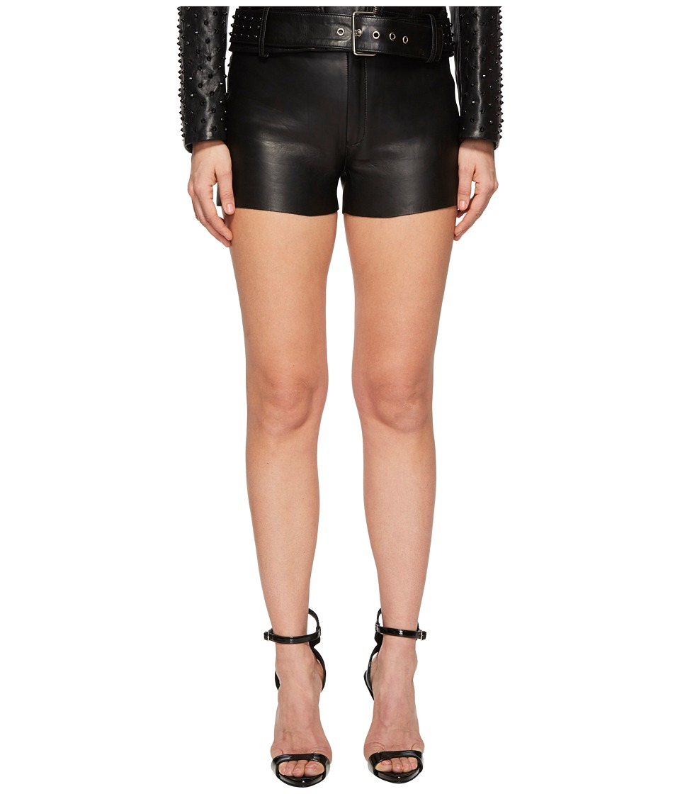 LAMARQUE - Garnet Leather Shorts (Black) Womens Shorts