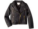 Kate Spade New York Kids Faux Leather Moto Jacket (Little Kids/Big Kids)
