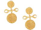 Kenneth Jay Lane Satin Gold Drop Earrings