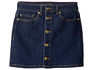 Kate Spade New York Kids Mini Skirt in Denim Indigo (Big Kids)