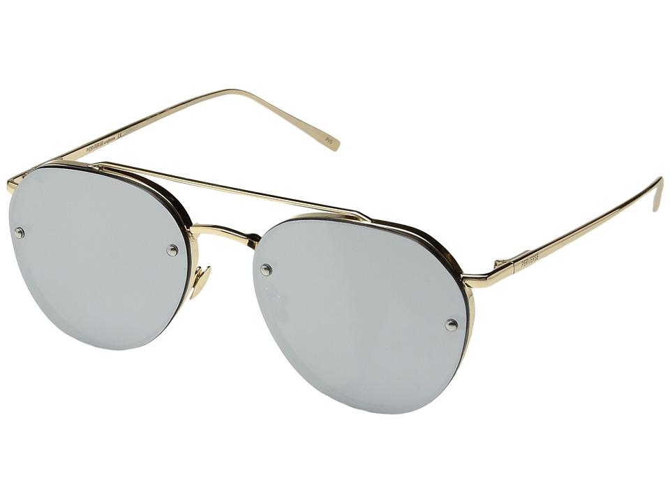 PERVERSE Sunglasses - Dean (Glossy Gold/Silver Mirror) Fashion Sunglasses