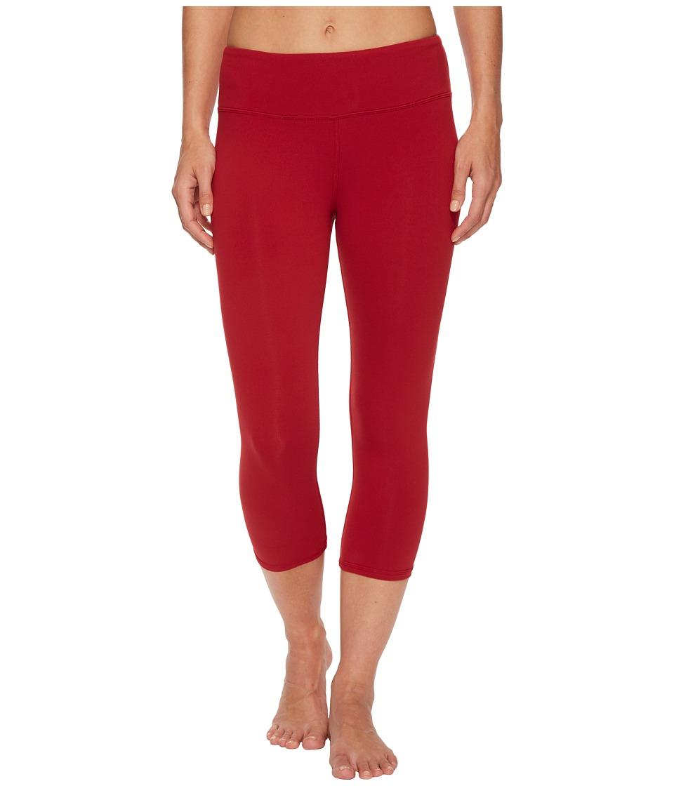 Image of ALO - Airbrushed Capri (Crimson) Women's Workout