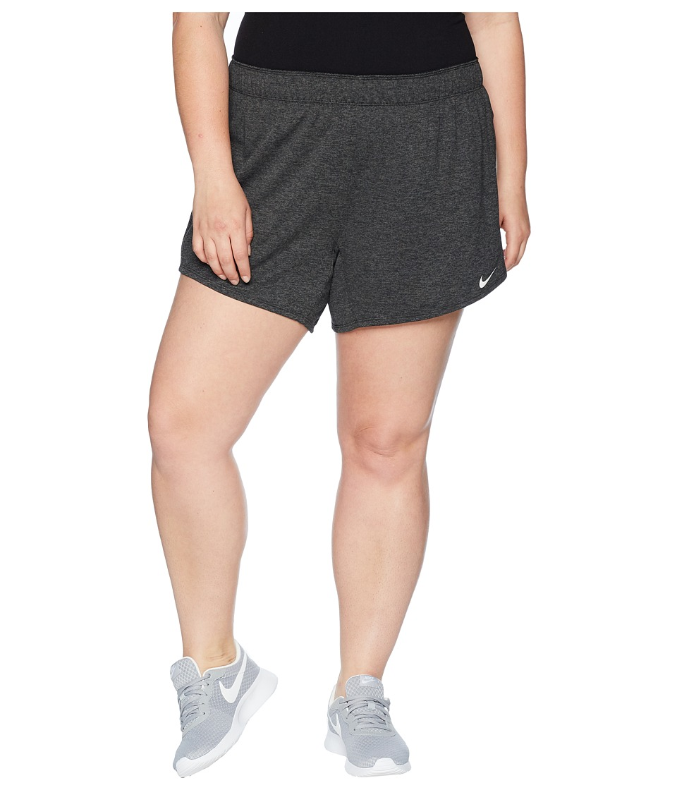 Nike - Flex Attack TR5 Shorts (Size 1X-3X) (Black/Heather/White) Womens Shorts