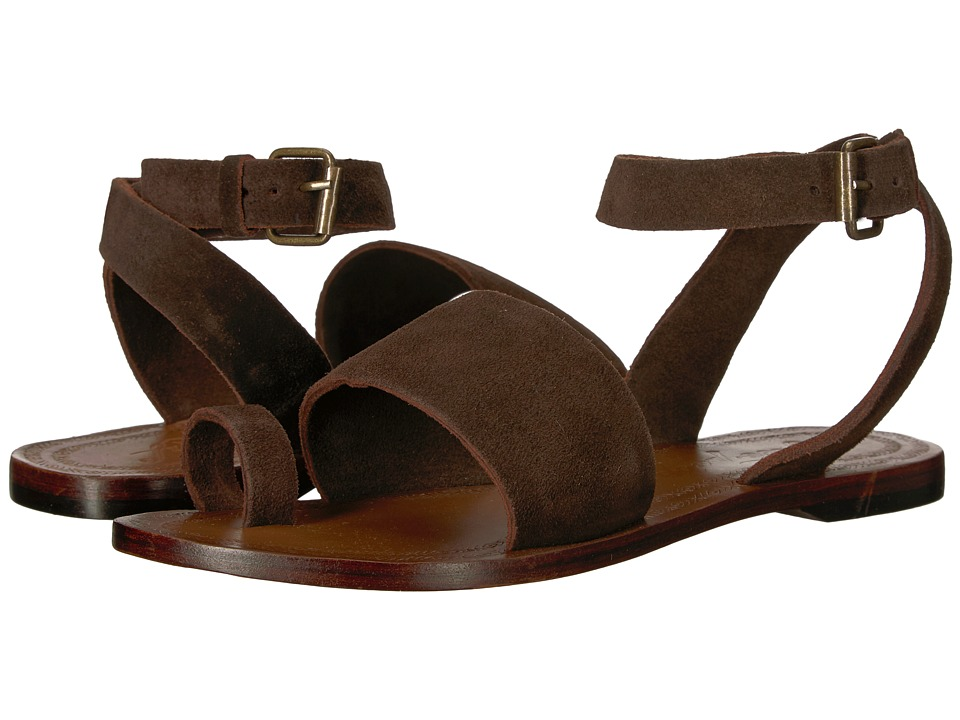 Free People - Torrence Flat Sandal (Chocolate) Women's Sandals