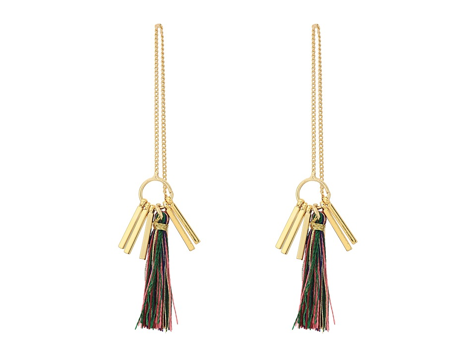 Rebecca Minkoff - Morocco Tassel Threader Earrings (Bright Multi) Earring