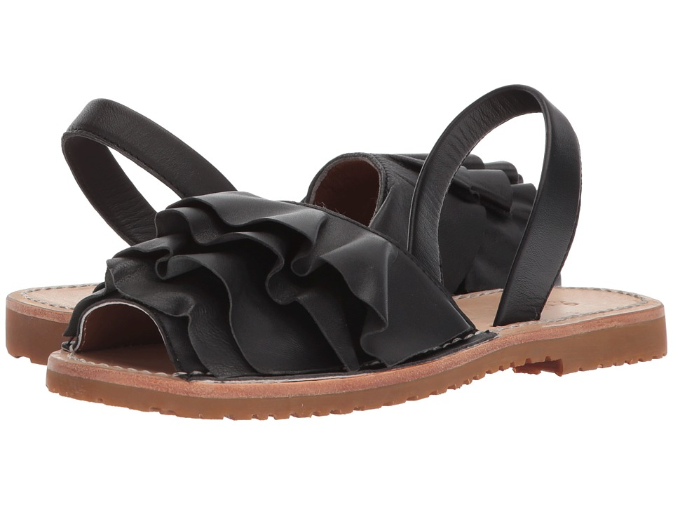 Seychelles - Peace of Mind (Black Leather) Women's Sandals