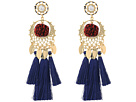 Rebecca Minkoff Tassel and Pom Drama Chandelier Earrings