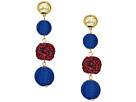 Rebecca Minkoff Threaded and Pom Sphere Drop Earrings