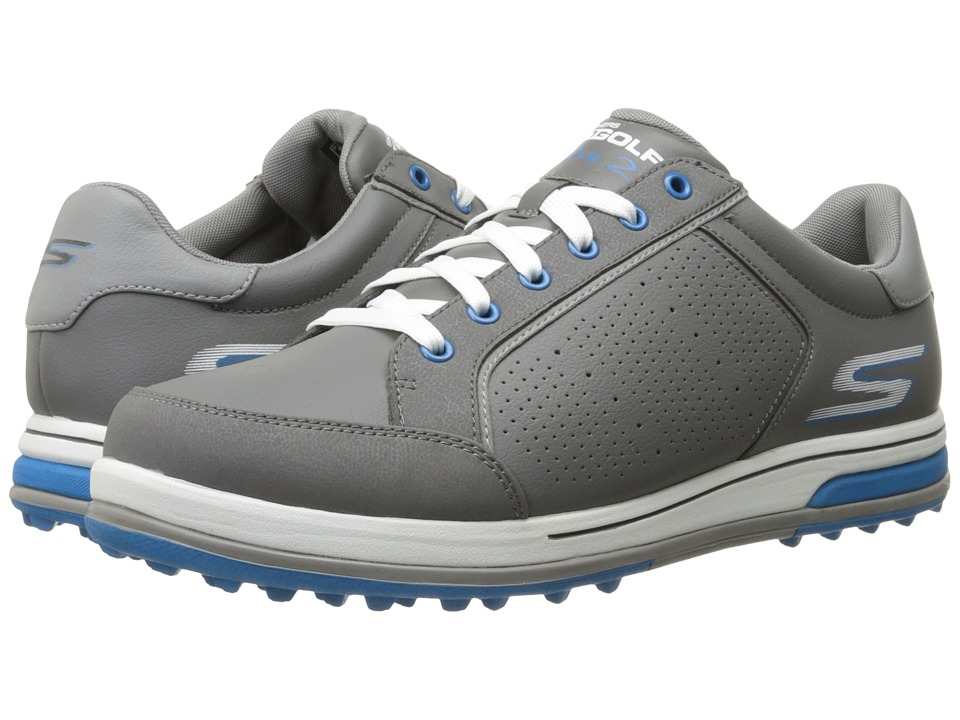 SKECHERS Performance - GO GOLF - Go Drive 2 (Charcoal/Blue) Mens Shoes