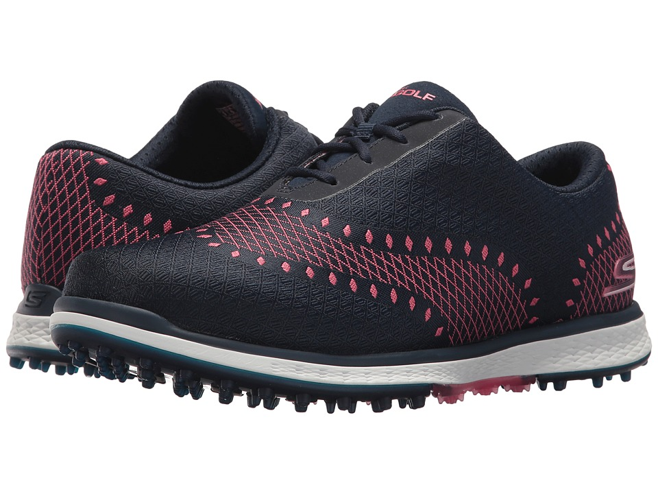 SKECHERS Performance - GO GOLF - Elite V.2 Ace (Navy/Pink...