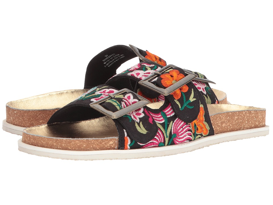 Free People Bali Footbed (Black Combo) Women's Shoes