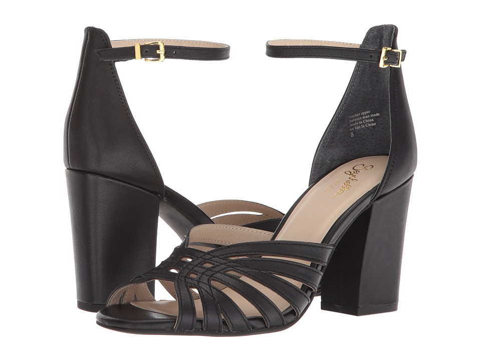 Seychelles - Darkest Before Dawn (Black Leather) High Heels