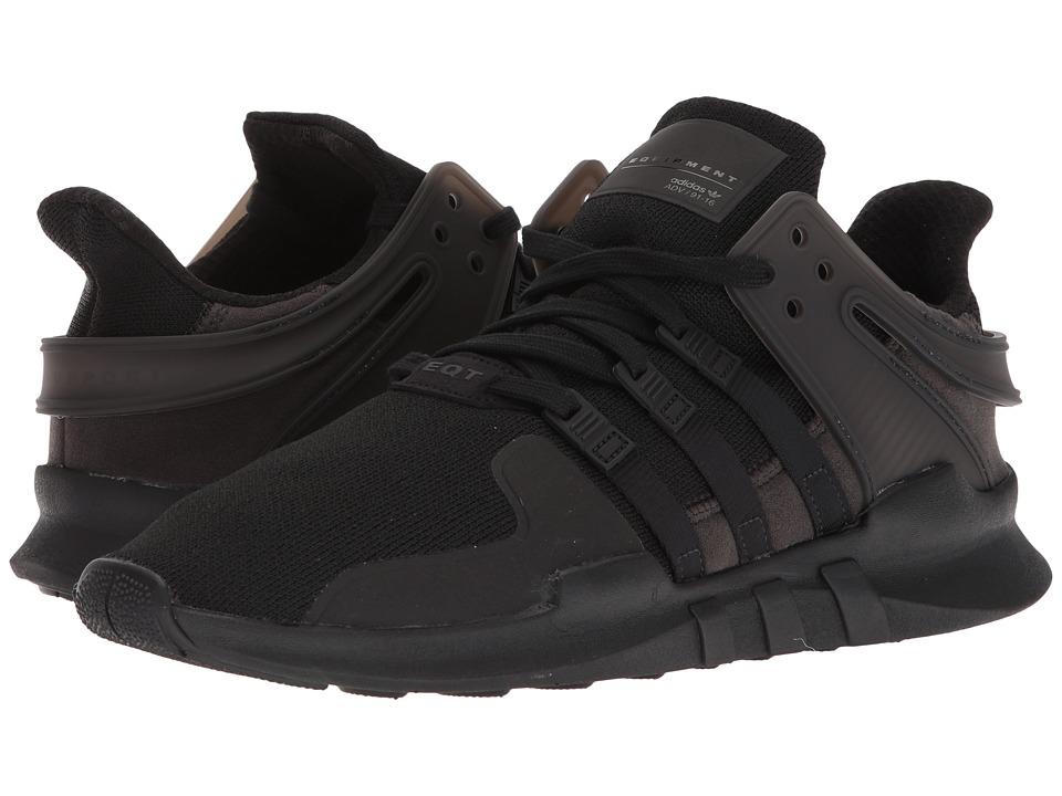 adidas Originals - EQT Support ADV (Black/Black/White) Mens Shoes