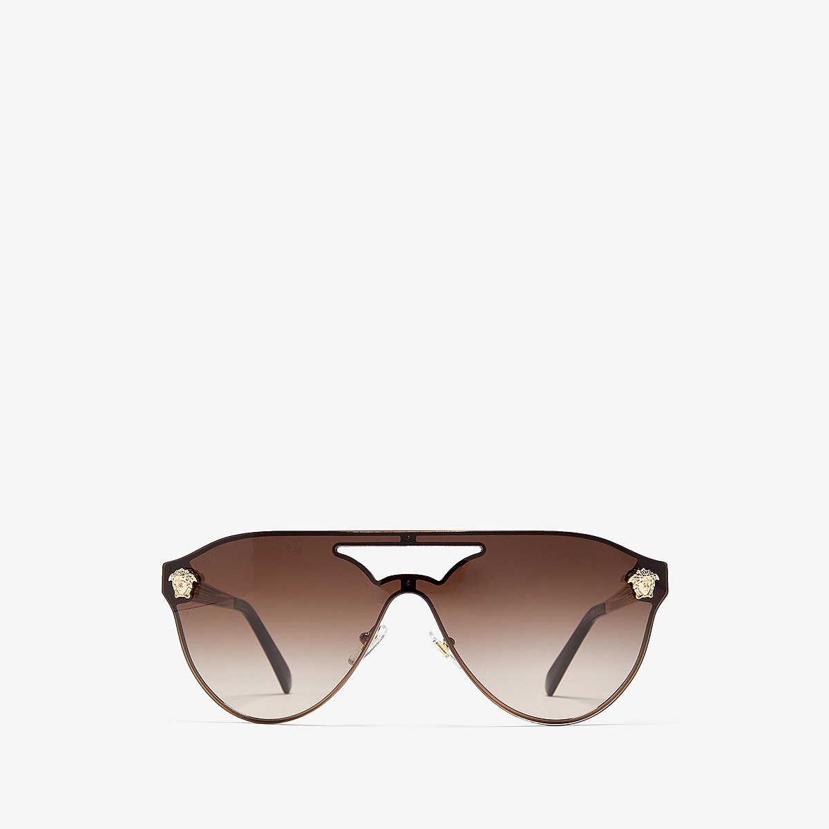 Versace - VE2161 (Pale Gold/Brown Gradient) Fashion Sunglasses