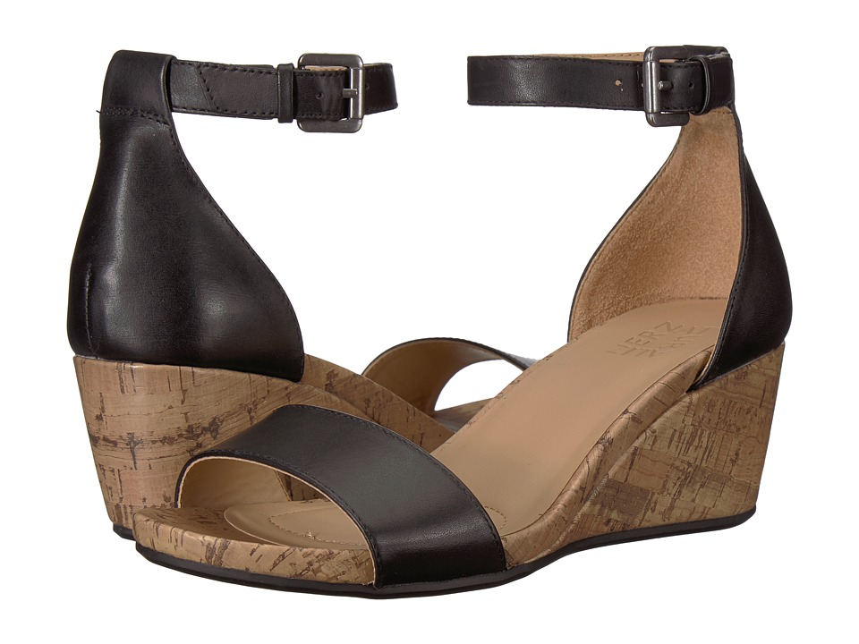 Naturalizer Cami (Black Leather) Wedges
