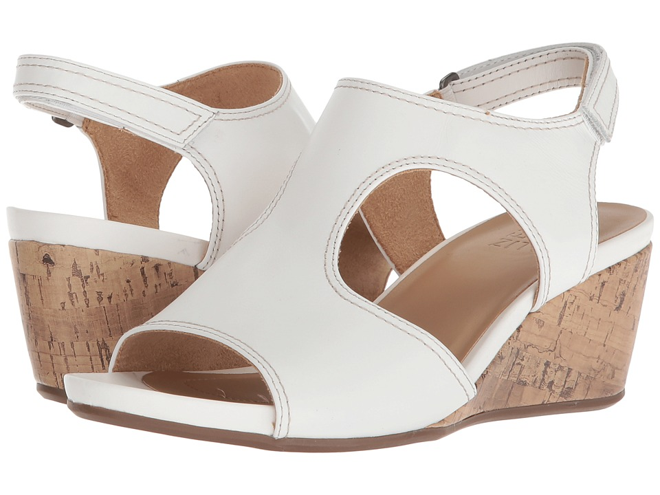 Naturalizer Cinda (White Leather) Wedges