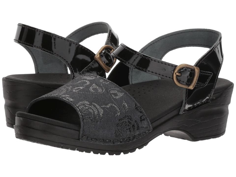 Sanita Original Rosetta (Black) Sandals