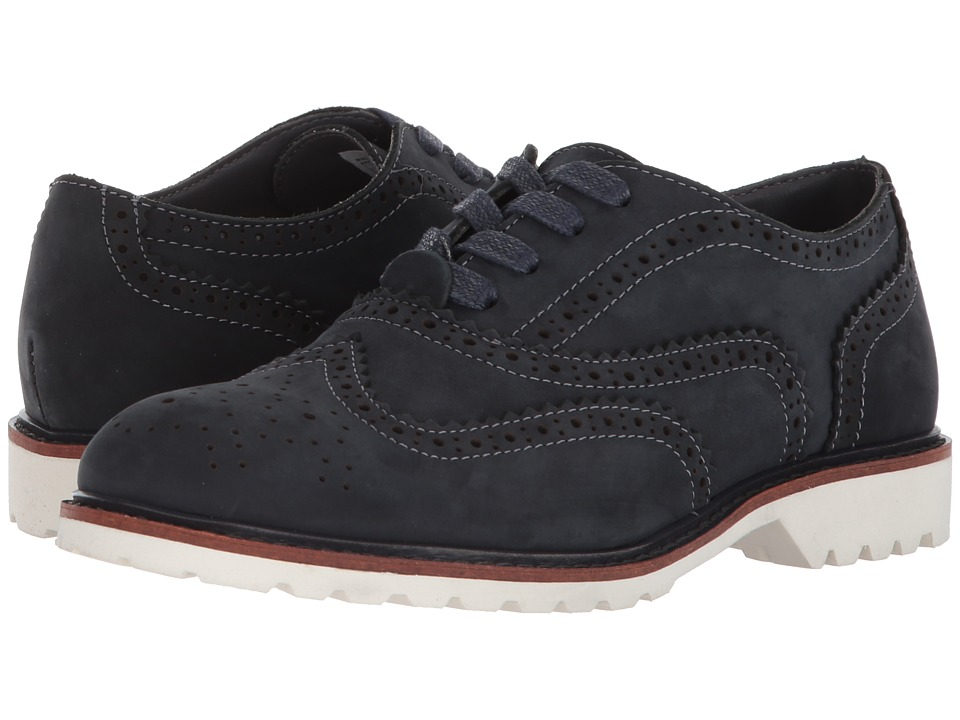 Kenneth Cole Reaction Kids - Wing Brogue Nubuck (Little Kid/Big Kid) (Navy) Boys Shoes