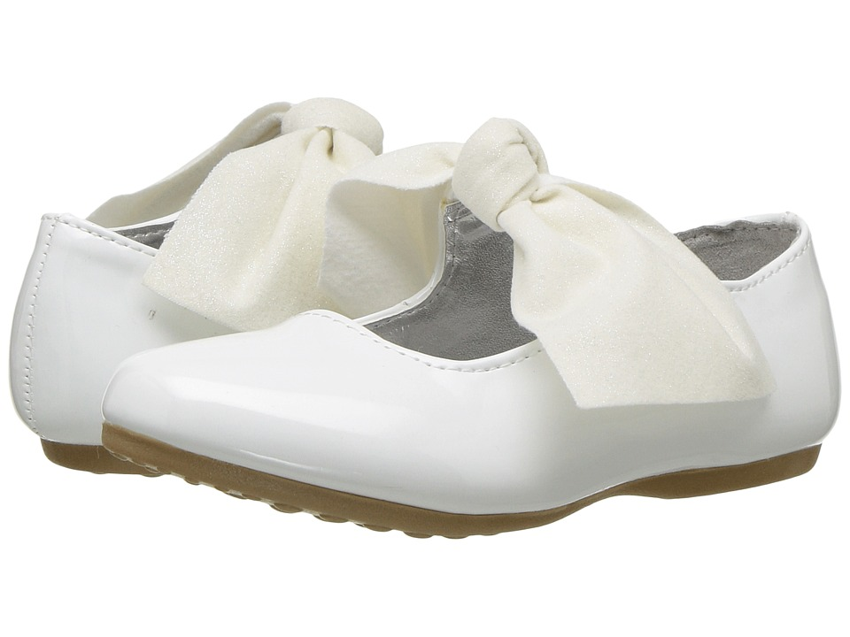 Kenneth Cole Reaction Kids - Rose Tie (Toddler) (White Patent) Girls Shoes