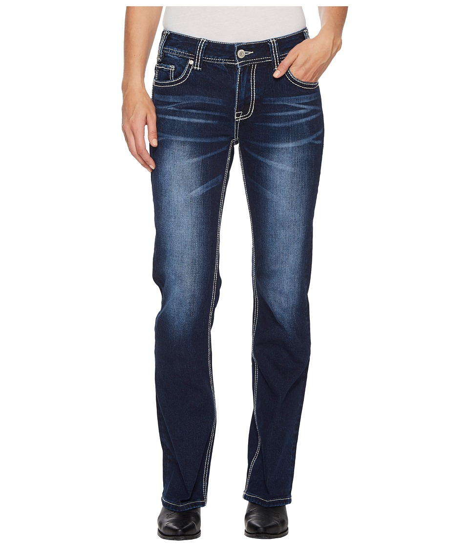 Rock and Roll Cowgirl - Mid-Rise Bootcut in Dark Vintage W1-5085 (Dark Vintage) Womens Jeans