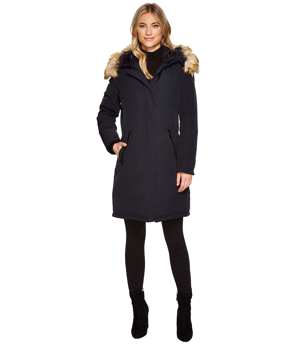 Vince Camuto Faux Fur and Sherpa Hooded Down N1661 (Navy) Women