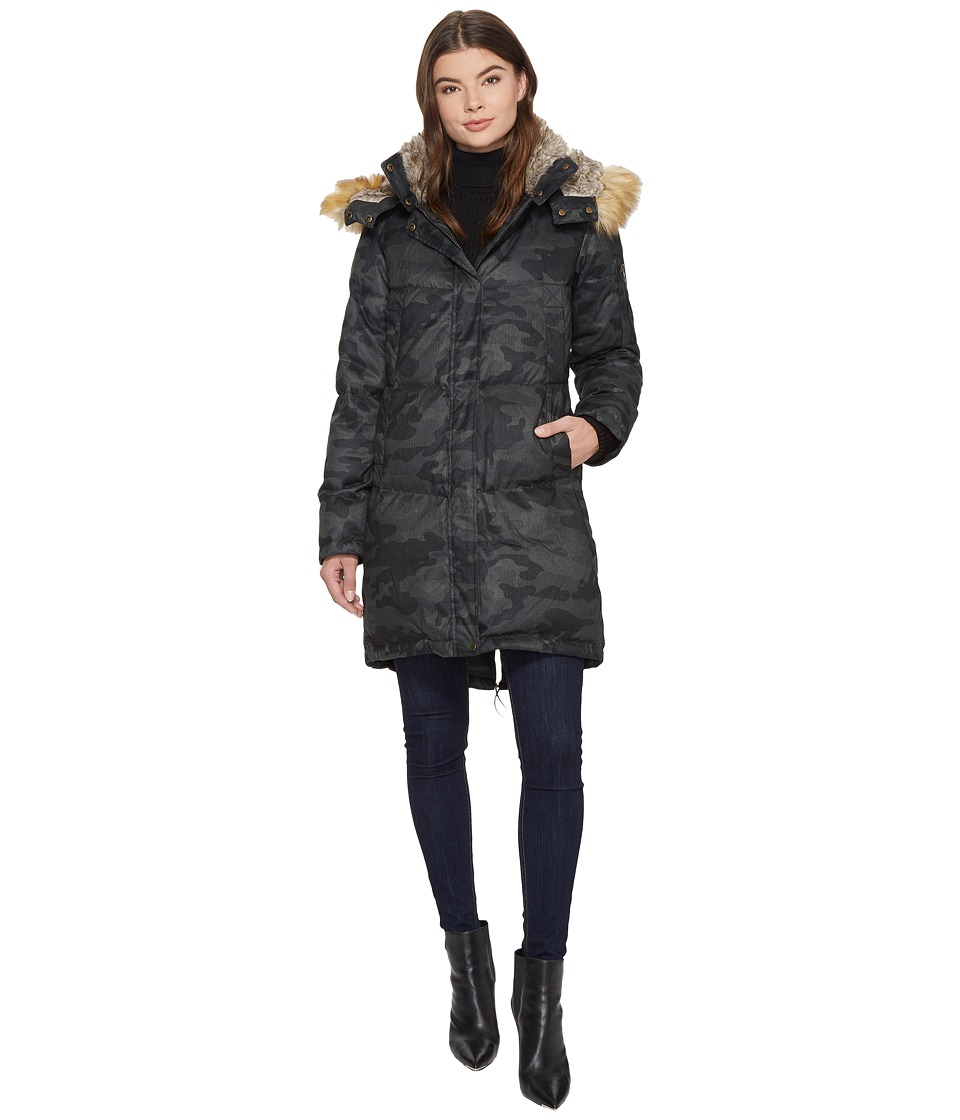 Vince Camuto Faux Fur Hooded Down N1011 (Camo) Women