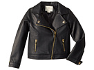 Kate Spade New York Kids Faux Leather Moto Jacket (Toddler/Little Kids)