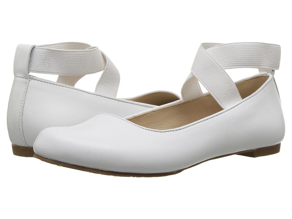 Elephantito Melissa Flats (Toddler/Little Kid/Big Kid) (White) Girls Shoes