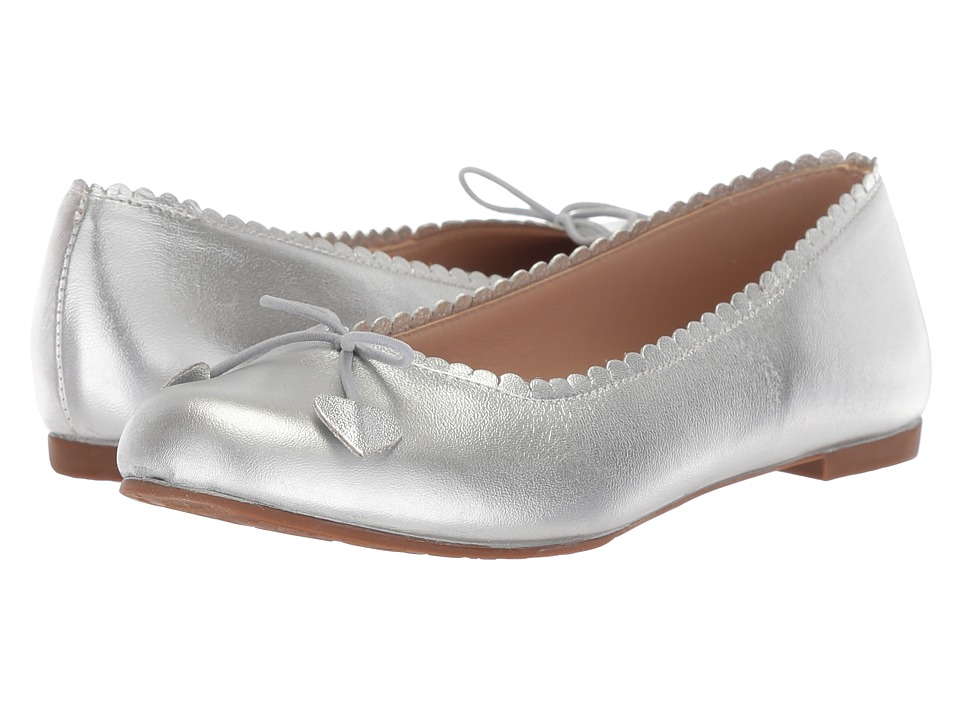 Elephantito Scalloped Ballerina (Toddler/Little Kid/Big Kid) (Silver) Girls Shoes