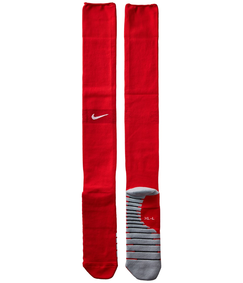 Nike FFF Stadium Over-the-Calf Sock Home/Away (Little Kid/Big Kid/Adult) (University Red/Gym Red/White) Crew Cut Socks Shoes