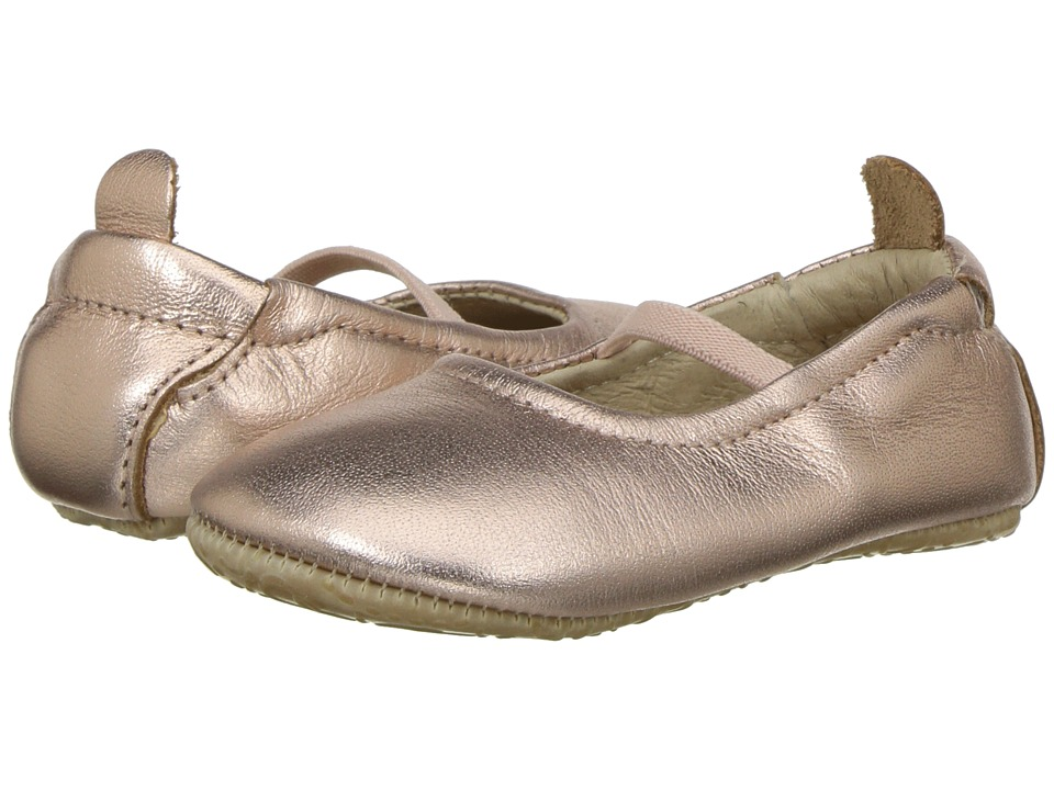Old Soles - Luxury Ballet Flat (Infant/Toddler) (Copper) Girls Shoes