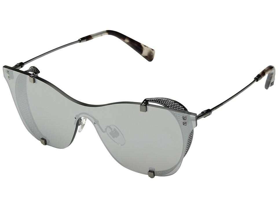 Valentino VA 2016 (Gunmetal/Mirror Silver) Fashion Sunglasses
