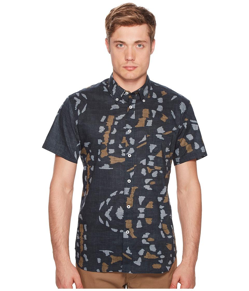 Image of Billy Reid - Short Sleeve Tuscumbia Print Shirt (Navy) Men's Clothing