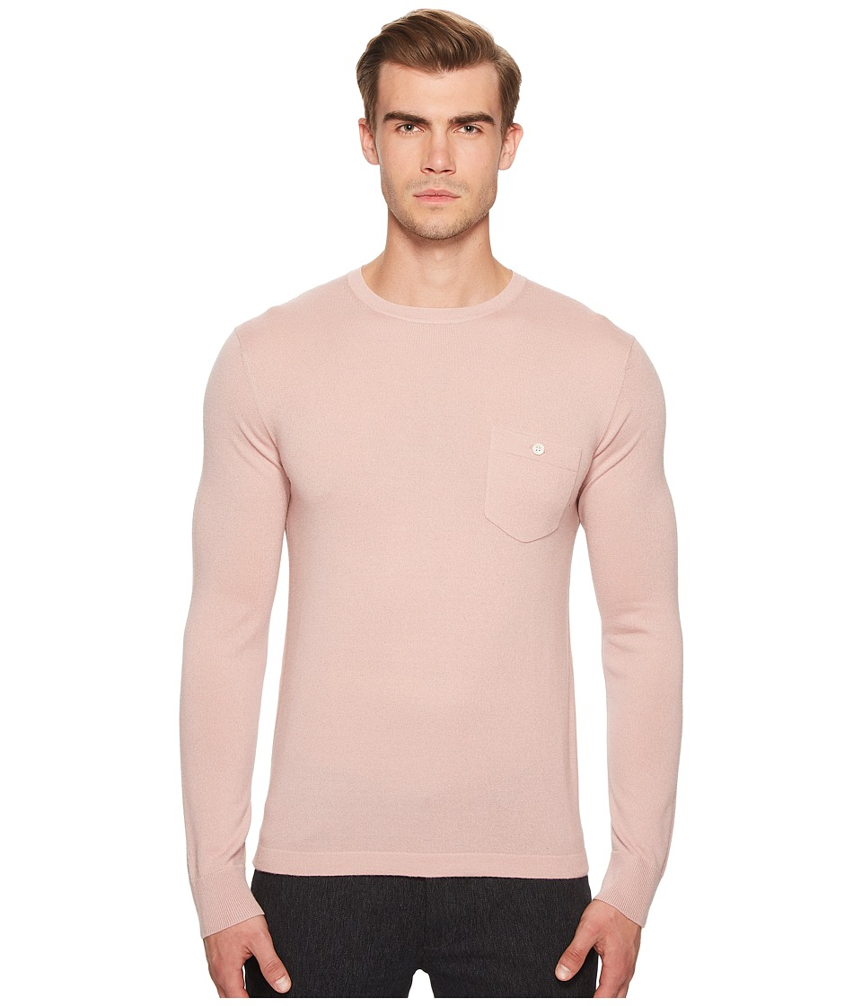 Todd Snyder - Long Sleeve Cashmere T-Shirt Sweater (Mauve) Mens T Shirt